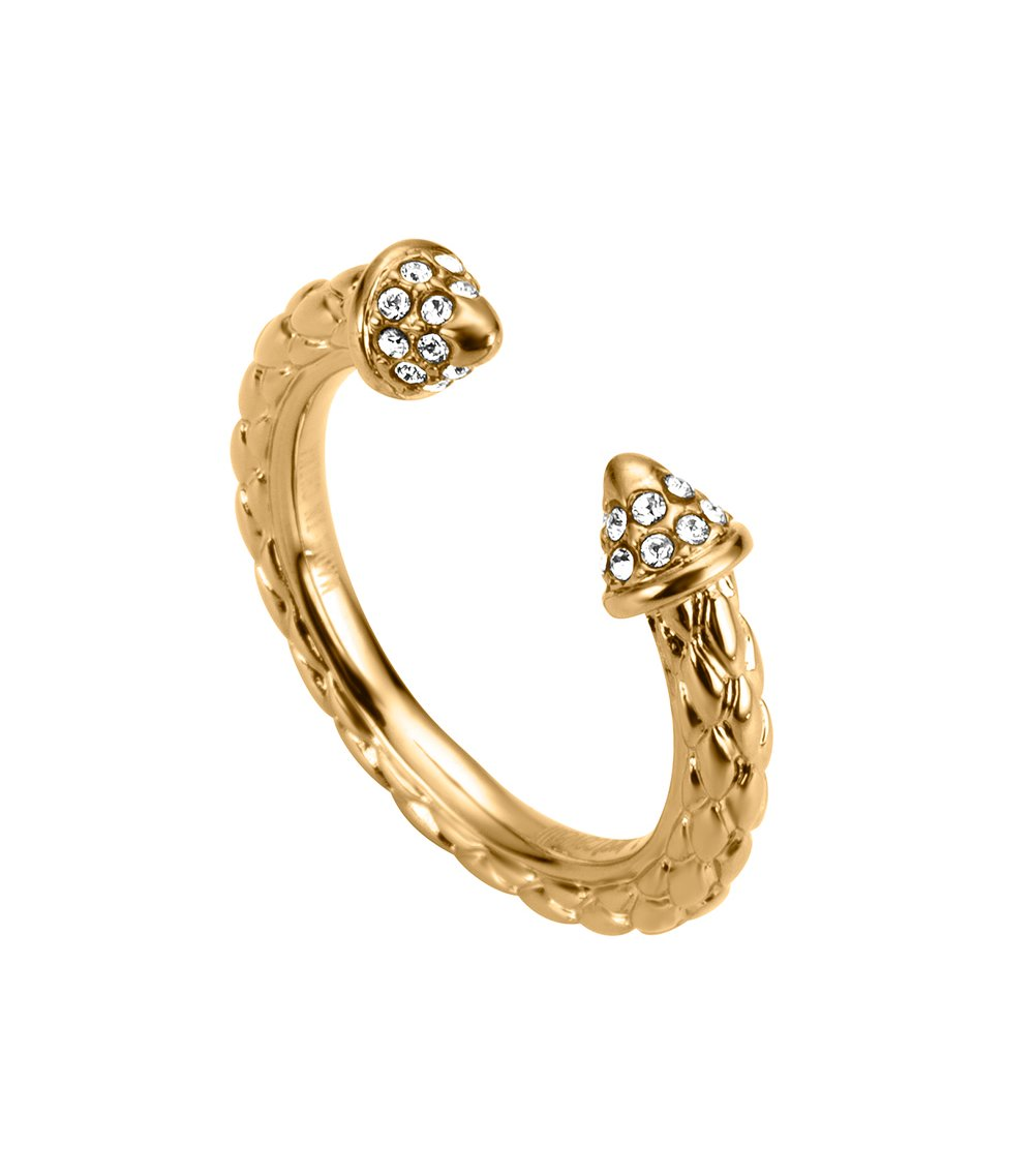 JUST CAVALLI Relaxed Gold Stainless Steel Ring JCRG00360206 5f9abdca757