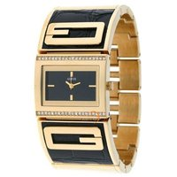 Guess Croco Leather And Gold Tone Ladies Watch W16550L2