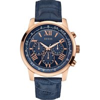 GUESS Horizon Blue Leather Chronograph W0380G5