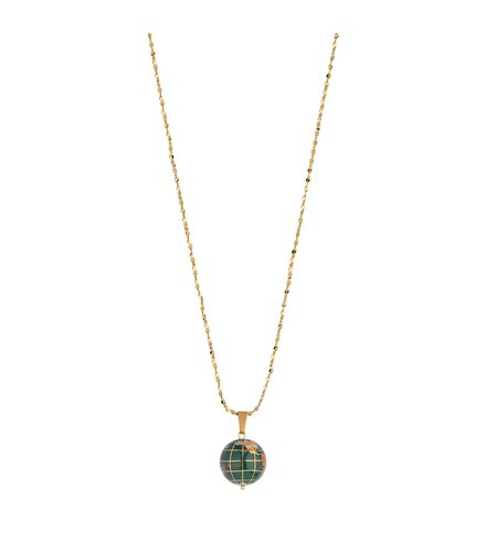 BREEZE Handmade Globe Gold Stainless Steel MOP 80cm Necklace 410012.1