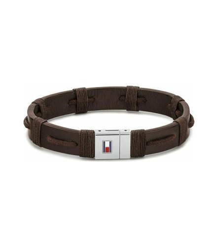 TOMMY HILFIGER Leather Stainless Steel Bracelet 2790238S