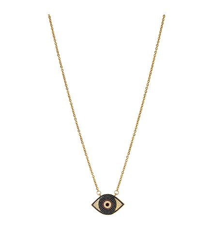 BREEZE Handmade Evil Eye Gold Stainless Steel Zircons 50cm Necklace 410021.1