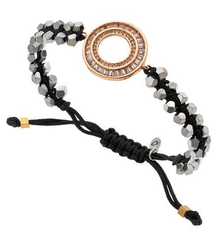 BREEZE Metal Cord Zircons Adjustable Bracelet 310017.9