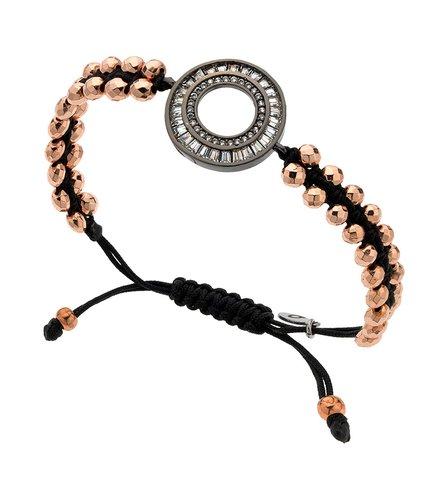 BREEZE Metal Cord Zircons Adjustable Bracelet 310018.3
