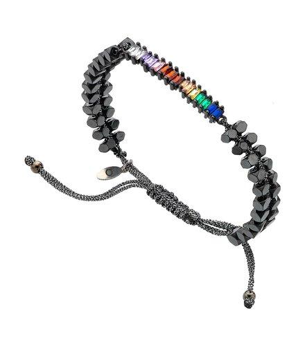 BREEZE Metal Cord Zircons Adjustable Bracelet 310038.9