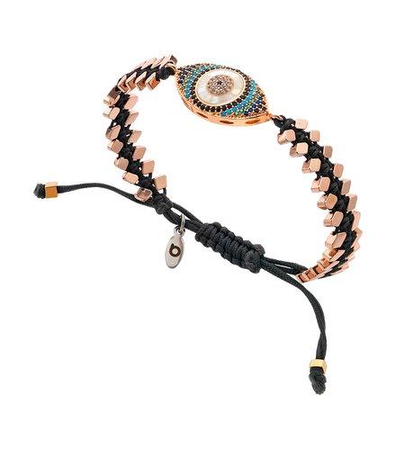 BREEZE Metal Cord Zircons Adjustable Bracelet 310044.3