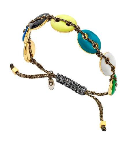 BREEZE Metal Cord Zircons Adjustable Bracelet 310046.1