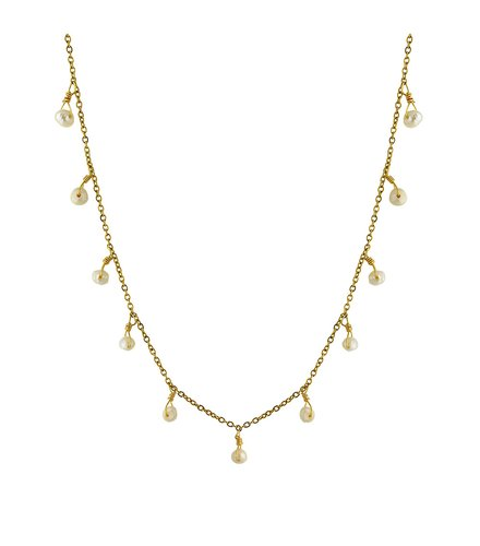 BREEZE Stainless Steel Pearls Necklace 410020.1A