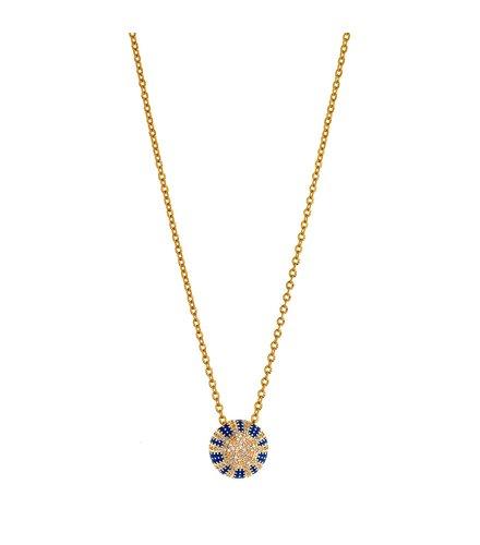 BREEZE Stainless Steel Zircons Necklace 410039.1
