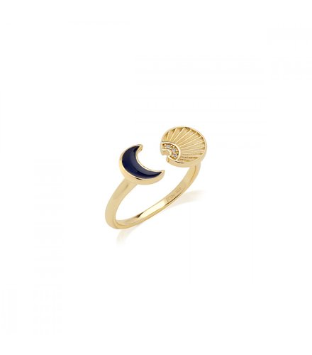 JCOU Sun And Moon Silver 925 Ring JW901G0-01