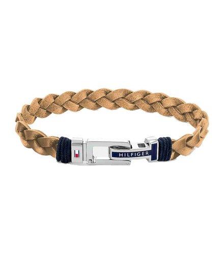 TOMMY HILFIGER Leather Stainless Steel Bracelet 2790310