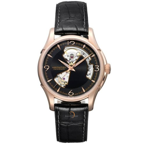Hamilton H32575735 Jazzmaster Open Heart Pink Gold PVD Automatic Gents Watch