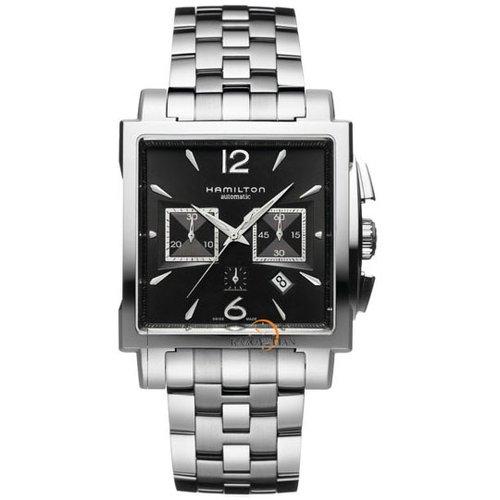Hamilton Men's H32666135 Jazzmaster Black Square Chronograph Dial Watch