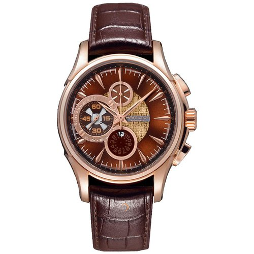 Hamilton Brown Rose Gold with Brown Leather Strap H32746591