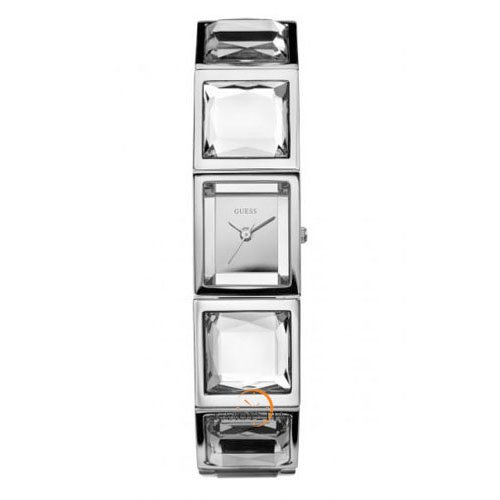 Guess Women's W12012L1 Crystal Accented Stainless Steel Watch