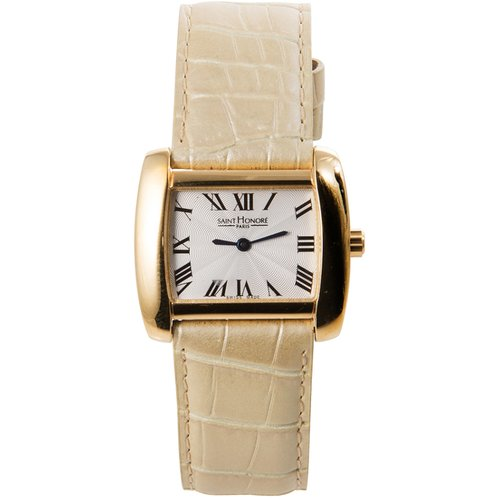 SAINT HONORE Rose Gold Beige Leather Strap 71205113ARF