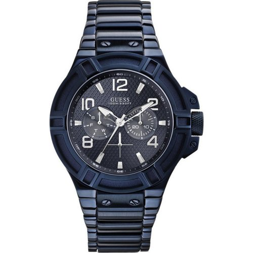 GUESS Multifunction Blue Stainless Steel Bracelet W0218G4