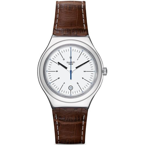 SWATCH Appia Brown Leather Strap YWS401