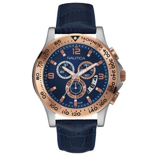 Nautica NST600 Blue Leather Strap NAI22503L