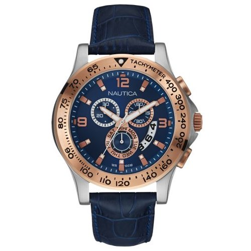 Nautica NST600 Blue Leather Strap NAI22503L