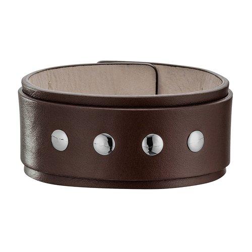 POLICE Proton Leather Stainless Steel Bracelet 20cm 25479BLC-02