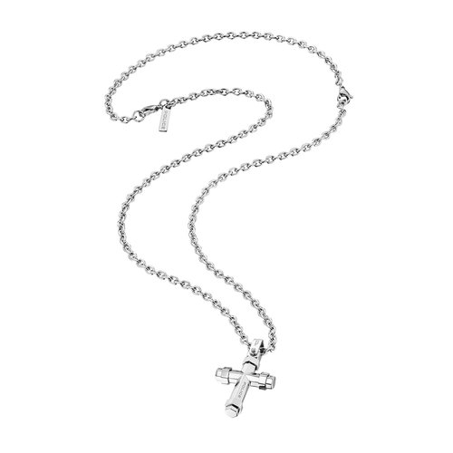 stainless defined necklace p man steel digital pi police