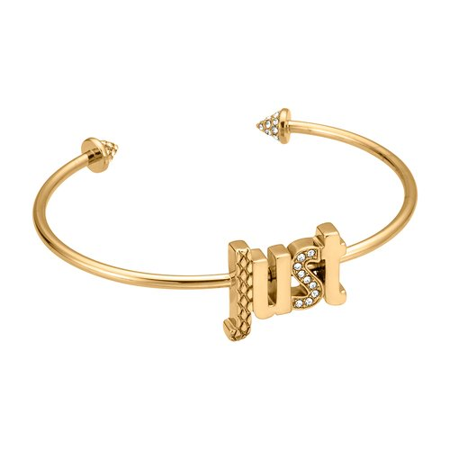 JUST CAVALLI Logo Gold Stainless Steel Bracelet JCBA00290200