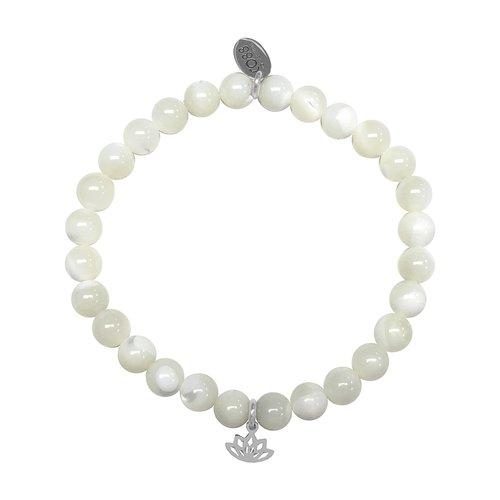 CO88 Celestial Bead Bracelet MOP Adjustable 8CB-17037