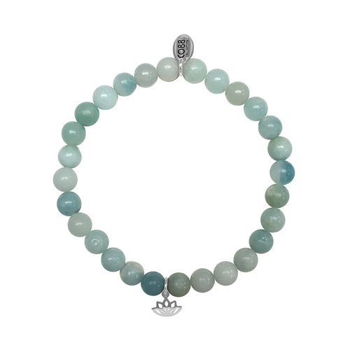 CO88 Celestial Bead Bracelet Amazonite Adjustable 8CB-17039