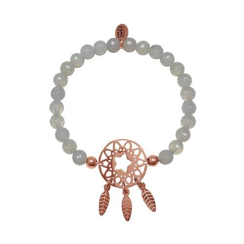 CO88 Beloved Steel Bracelet Natural Stone Adjustable 8CB-80021