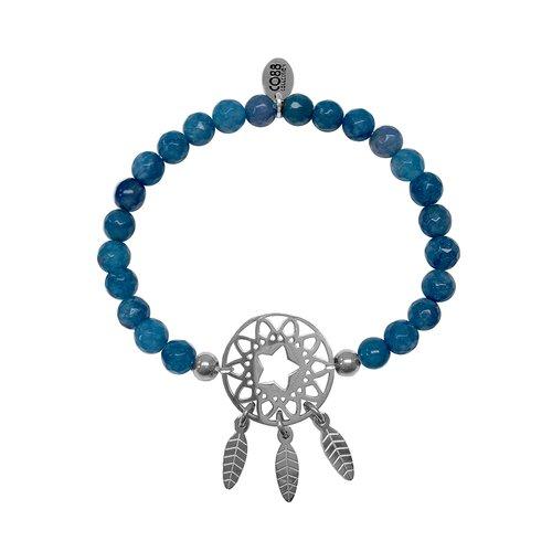CO88 Beloved Steel Bracelet Natural Stone Adjustable 8CB-80023