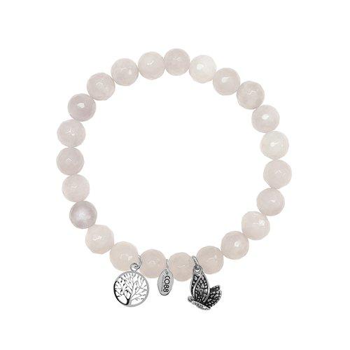 CO88 Serenity Steel Bracelet Natural Stone Adjustable 8CB-90001