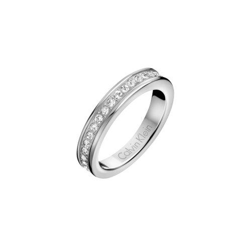 CALVIN KLEIN Hook Crystals Stainless Steel Ring KJ06MR0401