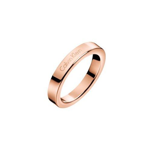 CALVIN KLEIN Hook Rose Gold Stainless Steel Ring KJ06PR1001