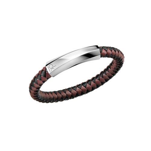 CALVIN KLEIN Bewilder Leather Stainless Steel Bracelet KJ2BBB0903