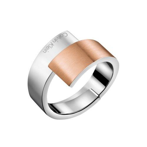 CALVIN KLEIN Intense Two Tone Stainless Steel Ring KJ2HPR2801
