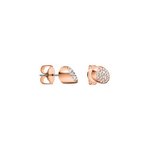 CALVIN KLEIN Brilliant Rose Gold Stainless Steel Earrings KJ8YPE140100