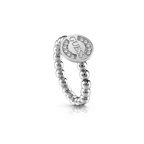 GUESS Stones Rhodium Plated Ring UBR28009
