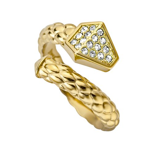 JUST CAVALLI Glam Chic Gold Stainless Steel Ring JCRG00010207