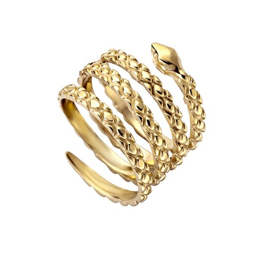 JUST CAVALLI Glam Chic Gold Stainless Steel Ring JCRG00020207