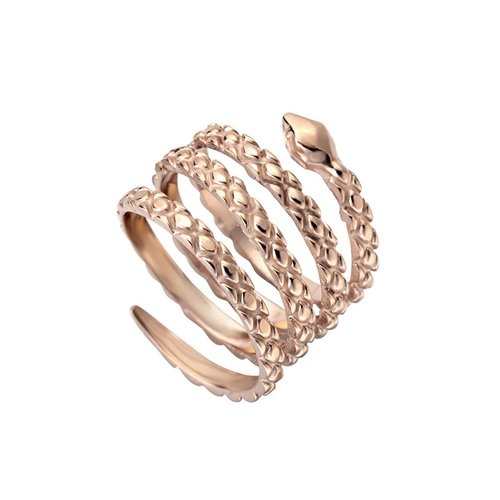 JUST CAVALLI Glam Chic Rose Gold Stainless Steel Ring JCRG00020306