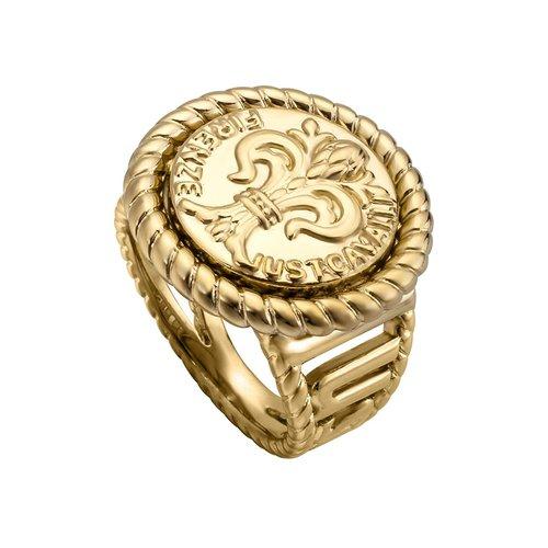 JUST CAVALLI Logo Gold Stainless Steel Ring JCRG00330206 9aba8920154