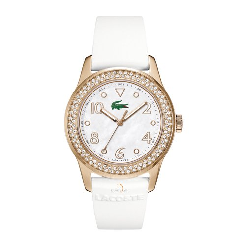 LACOSTE Crystals Rose Gold White Rubber 2000648