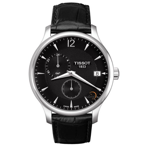 Tissot Tradition GMT Black Leather  T0636391605700