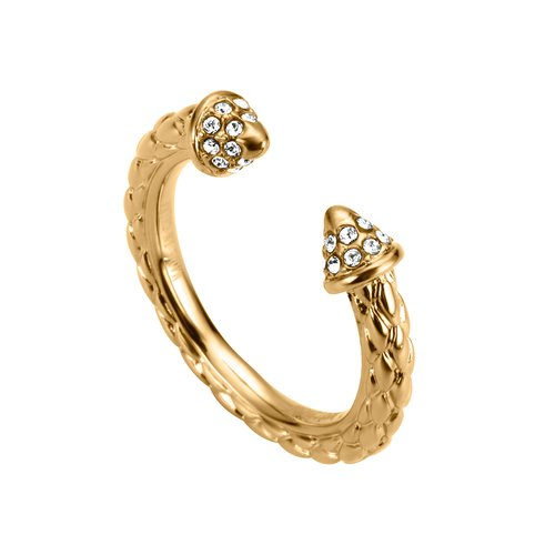 JUST CAVALLI Relaxed Gold Stainless Steel Ring JCRG00360206