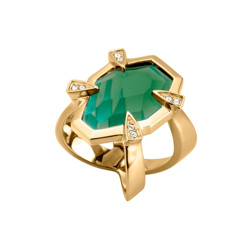 JUST CAVALLI Glam Chic Gold Stainless Steel Ring JCRG00380206