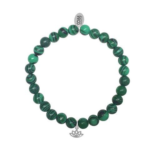 CO88 Stainless Steel Natural Stones Adjustable Bracelet 8CB-17043