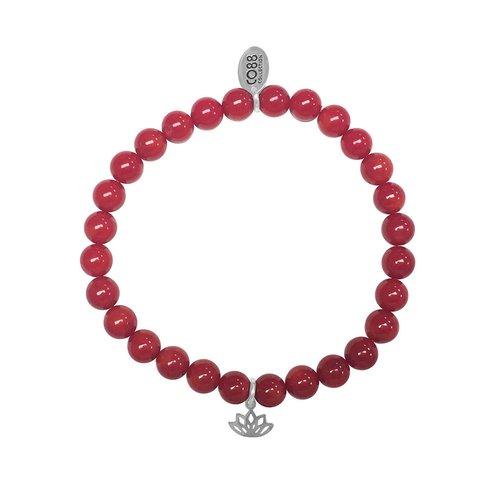 CO88 Stainless Steel Natural Stones Adjustable Bracelet 8CB-17044