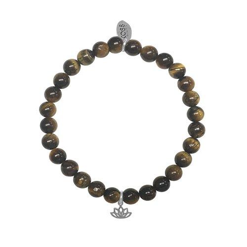 CO88 Stainless Steel Natural Stones Adjustable Bracelet 8CB-17046