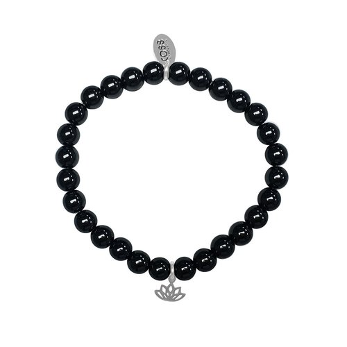 CO88 Stainless Steel Natural Stones Adjustable Bracelet 8CB-17048